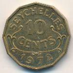 Сейшелы, 10 центов (1972 г.)