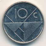 Аруба, 10 центов (1991 г.)