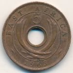 East Africa, 5 cents, 1955–1963