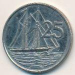 Каймановы острова, 25 центов (2005 г.)