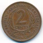 Восточные Карибы, 2 цента (1965 г.)