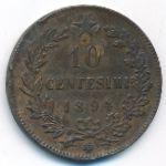 Италия, 10 чентезимо (1894 г.)