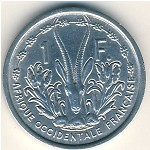 French West Africa, 1 franc, 1948–1955