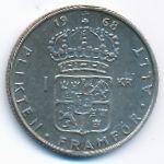 Швеция, 1 крона (1968 г.)