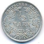 Германия, 1/2 марки (1915 г.)