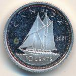 Канада, 10 центов (2001 г.)