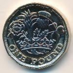 Великобритания, 1 фунт (2016 г.)