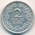 Веймарская республика, 2 рейхсмарки (1931 г.)