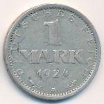 Веймарская республика, 1 марка (1924–1925 г.)