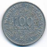 Западная Африка, 100 франков (1967 г.)