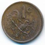 ЮАР, 1 цент (1970 г.)