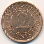 Маврикий, 2 цента (1969–1975 г.)