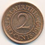 Маврикий, 2 цента (1959–1975 г.)
