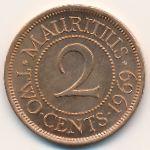 Маврикий, 2 цента (1955–1978 г.)
