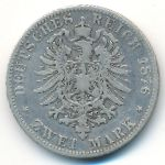 Бавария, 2 марки (1876 г.)