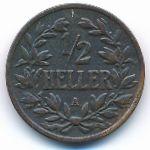 Немецкая Африка, 1/2 геллера (1904–1905 г.)