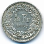 Швейцария, 1/2 франка (1957 г.)