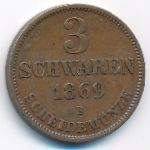 Ольденбург, 3 шварена (1869 г.)