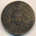 Французские колонии, 10 сентим (1827 г.)