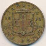 Ямайка, 1 пенни (1952 г.)