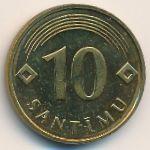 Латвия, 10 сантим (1992 г.)