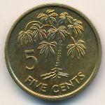 Сейшелы, 5 центов (2003 г.)