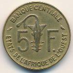 Западная Африка, 5 франков (1968 г.)