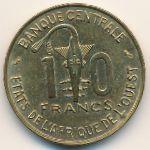 Западная Африка, 10 франков (1966 г.)