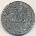 Западная Африка, 100 франков (1968 г.)