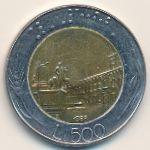 Италия, 500 лир (1988 г.)