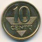 Литва, 10 центов (1998 г.)