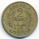 Тунис, 2 франка (1921–1945 г.)