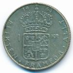 Швеция, 1 крона (1964 г.)