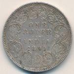 Британская Индия, 1 рупия (1891 г.)