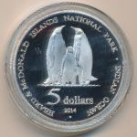 Остров Херд и острова Макдональд, 5 долларов (2014 г.)