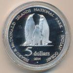 Остров Херд и острова Макдональд, 1 доллар (2014 г.)