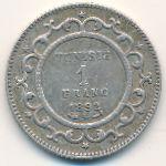 Тунис, 1 франк (1892 г.)