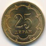 Таджикистан, 25 дирам (2001 г.)