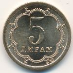 Таджикистан, 5 дирам (2006 г.)