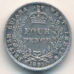 Британская Гвиана, 4 пенса (1891 г.)
