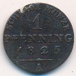 Пруссия, 1 пфеннинг (1825 г.)