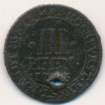 Мюнстер, 3 пфеннинга (1743 г.)