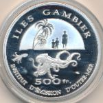 Gambier Islands, 500 francs, 2014