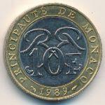 Монако, 10 франков (1989–2000 г.)