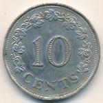 Мальта, 10 центов (1972 г.)