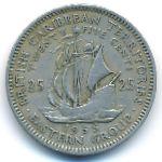 Восточные Карибы, 25 центов (1955 г.)