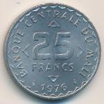 Мали, 25 франков (1976 г.)