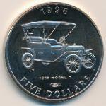 Маршалловы острова, 5 долларов (1996 г.)