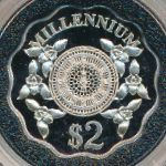 Каймановы острова, 2 доллара (2000 г.)