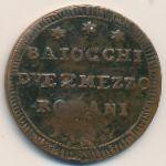 Папская область, 2-1/2 байоччо (1796 г.)